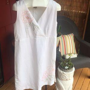 NWT Kenar Sleeveless Dress Sz12 Floral Embroidery
